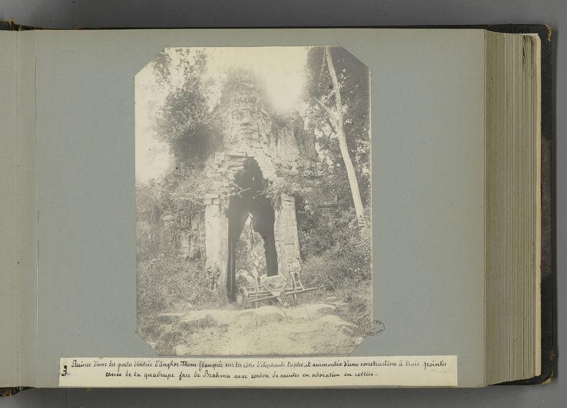 3 Ruines d'une des portes d'entrée d'Angkor-Thom