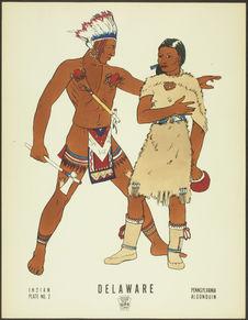 Plate No.2. Indian. Delaware. XVIII century. Pennsylvania, Algonquin.