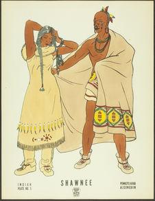 Plate No.5. Indian. Shawnee. Pennsylvania, Algonquin