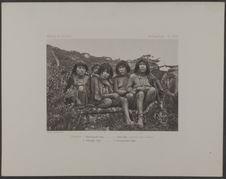 PL. XVIII. Femmes : 1. Kitamaoyaoélis Kipa, 2. Alaéli Kipa, portant son enfant ;...