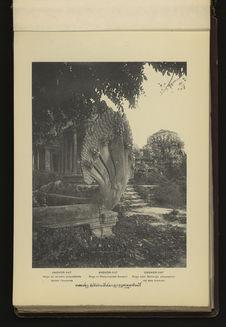 Angkor-Vat : Naga ou serpent polycéphale devant l'enceinte
