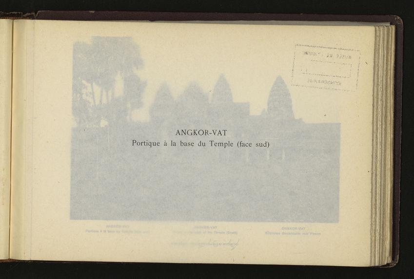 Angkor-Vat : portique à la base du Temple