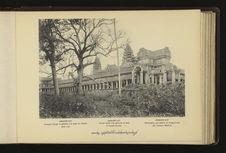 Angkor-Vat : portique d'angle et galeries à la base du Temple