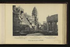 Angkor-Vat : escalier du troisième étage conduisant au sanctuaire de la Tour...