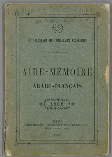 Aide-mémoire arabe-français