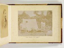 Georges Thomann et son campement