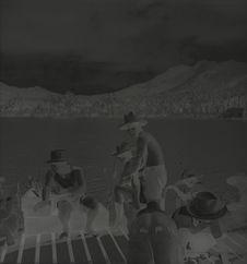 Sans titre [portrait d'hommes sur un ponton de bois]