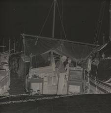 Split : le port bâteaux-marchands le long du quai