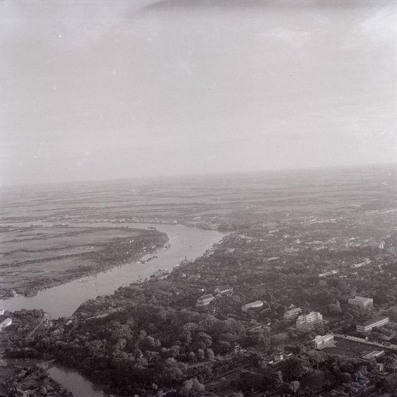 Vue aérienne de Saïgon