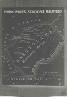 Carte des peintures rupestres du Basutoland (Exposition art rupestre Afrique du...