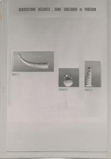 """Vitrine temporaire """"Art Baoulé"""" (décembre 1952)"""