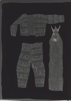 Vêtement en tapa peint