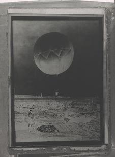 Ballon captif pour photographie aérienne des fouilles