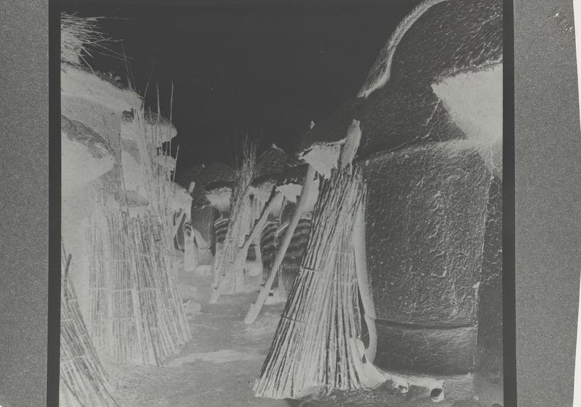 Vue de greniers chez le lamido