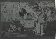 Théâtre annamite, scène de la cadouille