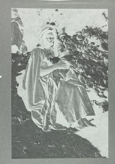 Berbère Harratine - voile noir, costume indigo