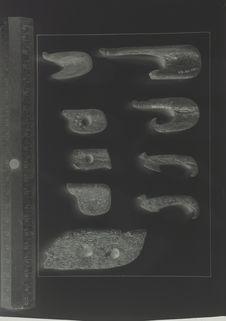 Hameçons en os; étapes de la fabrication