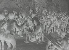 La danse du rût de l'antilope, exécutée par Bangula, chef de Ronandji, et sa...