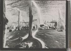 Intérieur d'une hutte zoulou