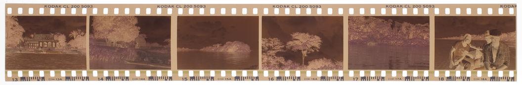 Bande-film de 6 vues concernant un portrait et le rivage