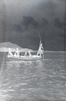 Sans titre [Barque sur un fleuve]