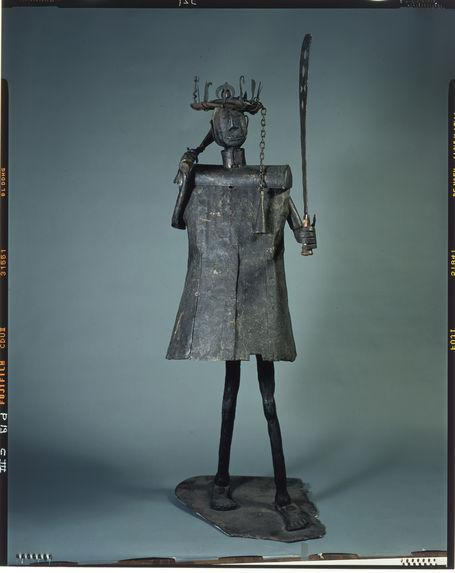 Statue entièrement en fer représentant le dieu Gou