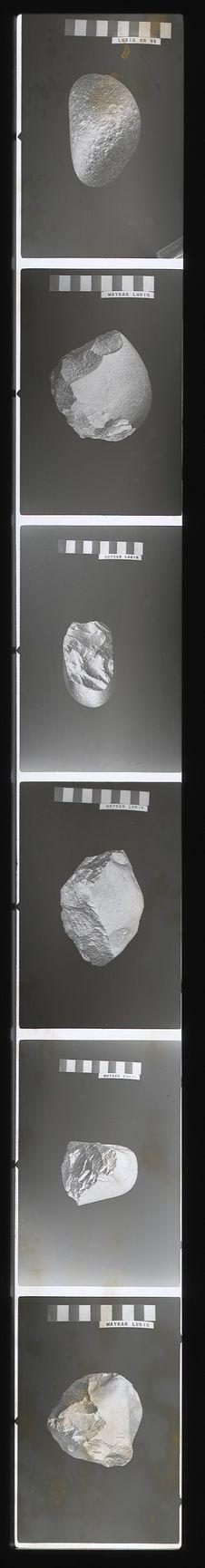 Bande film de 6 vues concernant des pierres taillées de Waykan Lurin