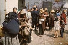 Cajamarca. Jour de marché. Indiens des environs