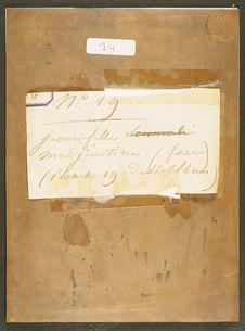 Photographie du verso du daguerréotype n°PM000078 : Jeune fille Medjeurtine