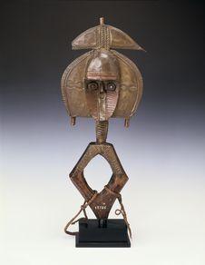 """Statuette de gardien de reliquaire """"ngoulou&quot"""