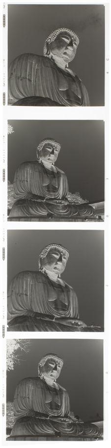 Bande film de quatre vues concernant une statue de Bouddha géante
