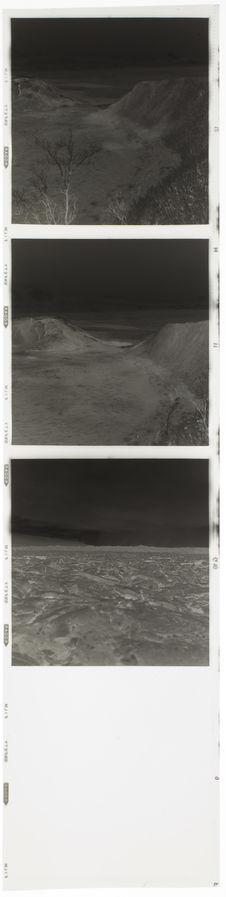 Bande film de trois vues concernant des vues aériennes et de la lave