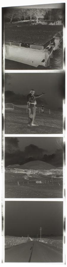 Bande film de quatre vues concernant des paysages, des portraits et des...
