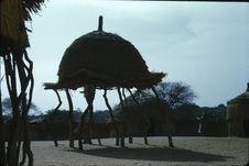 Sans titre [structure faite de branches de bois tordues surmontées d'un dôme]