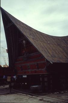 Ambarita, Lac Toba, Sumatra ; Maison batak Toba