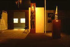 """Exposition """"Musée imaginaire de l'Océanie"""". Vue installation"""