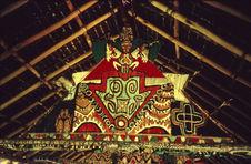 Papua New Guinea ; Porapora ; Muruken ; Peintures intérieures de l'église