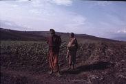 Sans titre [maasaï dans un champ]