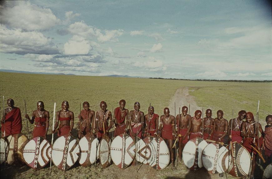 Sans titre [portrait de groupe de guerriers maasaï]