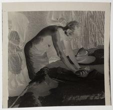 Femmes Dogon pilant le petit mil