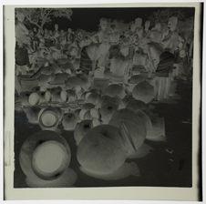 Les poteries au marché