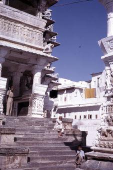 Jagdish Temple : escalier