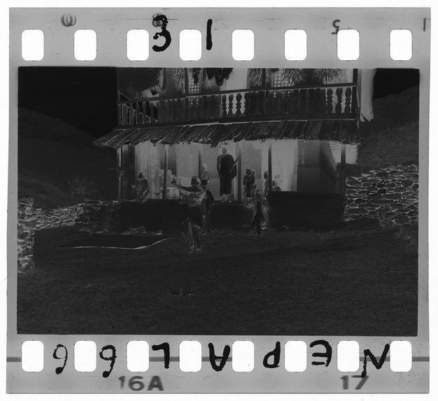Terrasse d'une maison limbu
