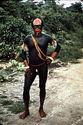 Homme au corps peint au genipapo