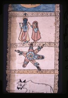 Rouleau peint sur papier : Krishna