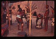 Ornementation des poteaux du Kuarup
