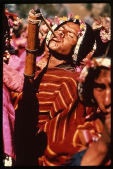 Carnaval : homme jouant du tokoro