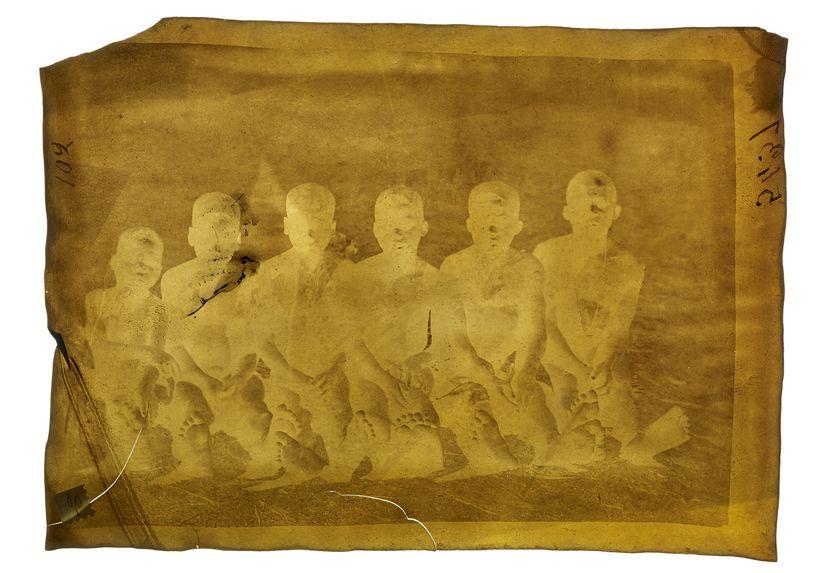 Groupe d'enfants malinkés à Kita