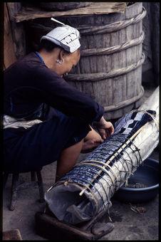 Confection des plis de la jupe
