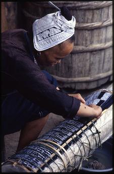 Façonnage des plis de la jupe
